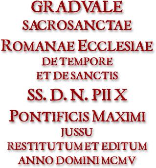 Graduale Romanum 1905