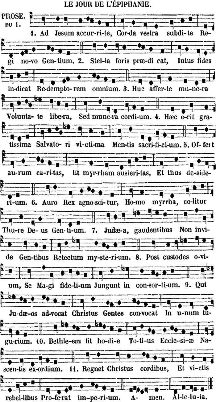 Prose de l'Epiphanie - Ad Jesum accurite