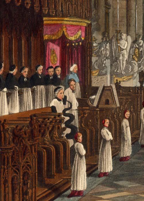 La sainte messe à la cathédrale d'amiens (xixème siècle)