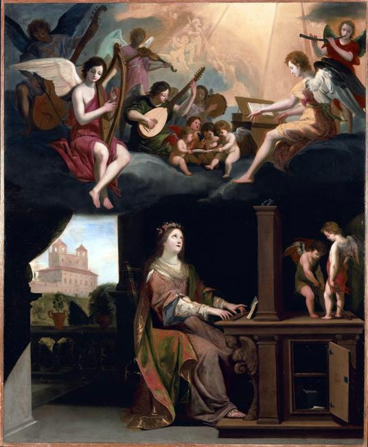 Sainte Cécile, Vierge & Martyre - tableau de Jacques Stella