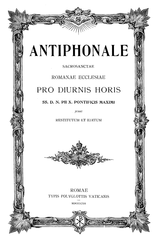 Antiphonaire de 1912