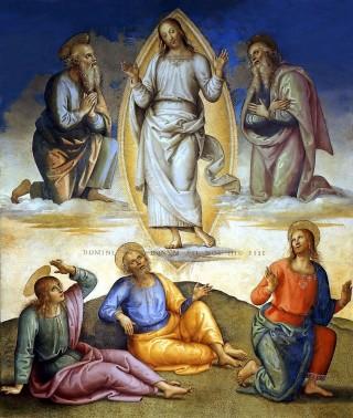 Pietro Perugino : La Transfiguration de Notre Seigneur (1496)