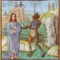 Les trois tentations de N.S. - Le Miroir de l'humaine condition, Ecole française du XVe siècle