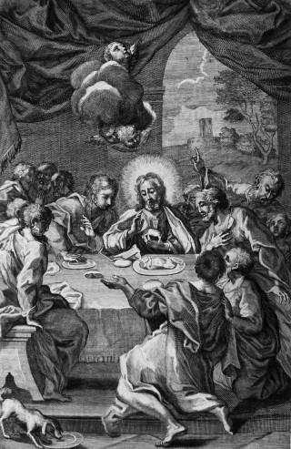 La Cène - gravure tirée d'un canon pontifical