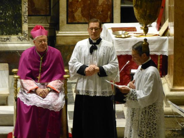 Mot d'ouverture du pèlerinage par M. l'Abbé Barthe
