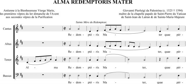 Palestrina - Alma Redemptoris Mater à 4 voix