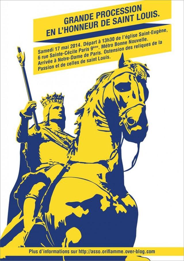 Affiche procession saint Louis