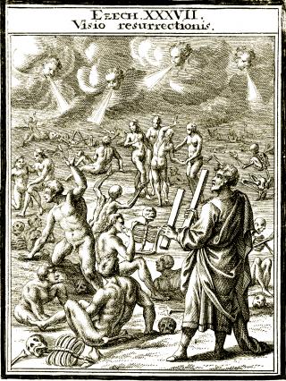 Vision d'Ezéchiel (chapitre 37) - Viens des quatre vents, esprit, et souffle sur ces morts, afin qu'ils revivent