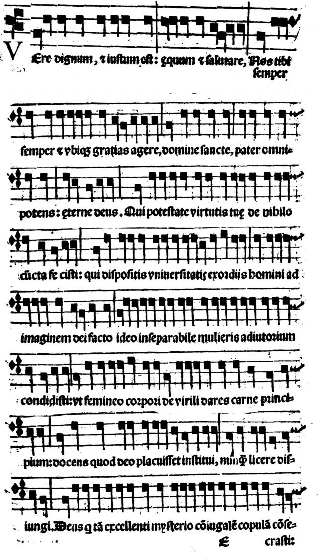 Bénédiction nuptiale chantée en préface consécratoire, Sacerdotale Romanum de 1580