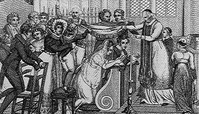 Mariage sous le poêle au XIXème siècle-01
