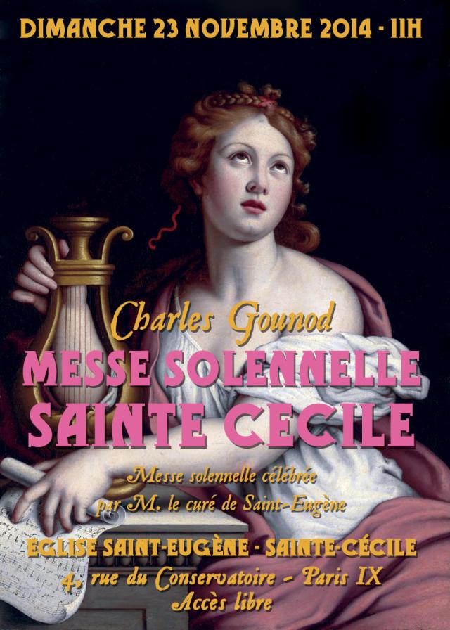 Solennité de sainte Cécile le 23 novembre 2014