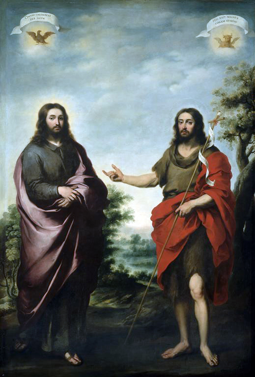 Bartolome Esteban Murillo - saint Jean Baptiste désignant le Christ
