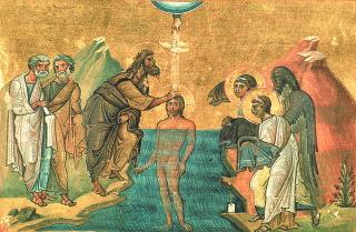 Fête de la Théophanie - baptème du Christ au Jourdain