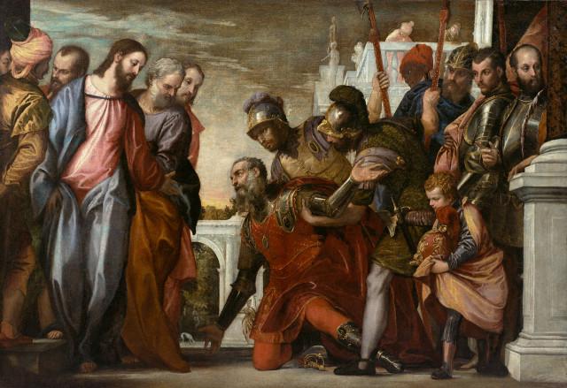 Le Christ et le centurion - Domine non sum dignus - Véronèse circa 1575