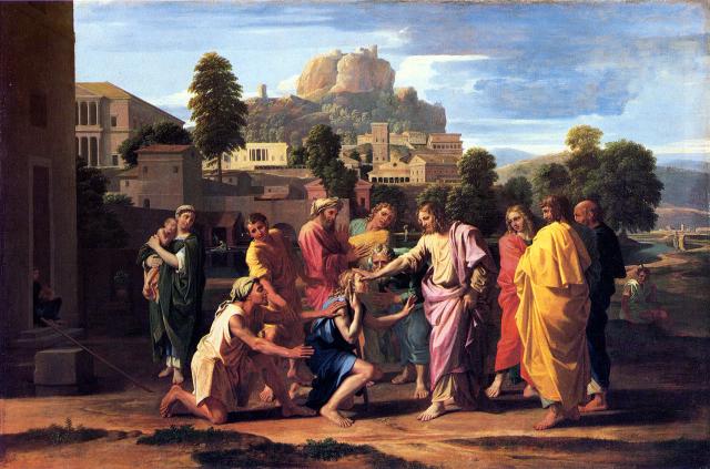 Nicolas Poussin - La guérison de l'Aveugle de Jéricho - 1650