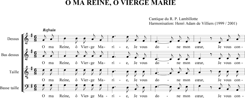 partition chant a la vierge marie