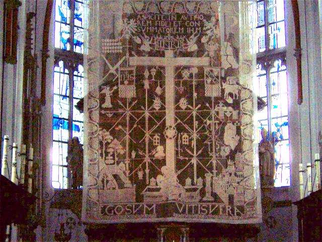 Voile de Carême de l'église l'Assomption à Marienbaum.