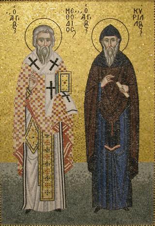 Mosaïque des saints Cyrille & Méthode
