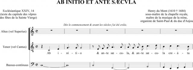 Ab initio et ante sæcula - Henry du Mont